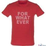 تی شرت مردانه بیلسی قرمز طرح دار