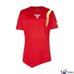 تیشرت ورزشی مردانه آندر آرمور قرمز طرح دار