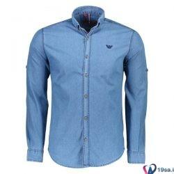پیراهن مردانه آبی روشن