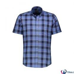 پیراهن مردانه آستین کوتاه آبی