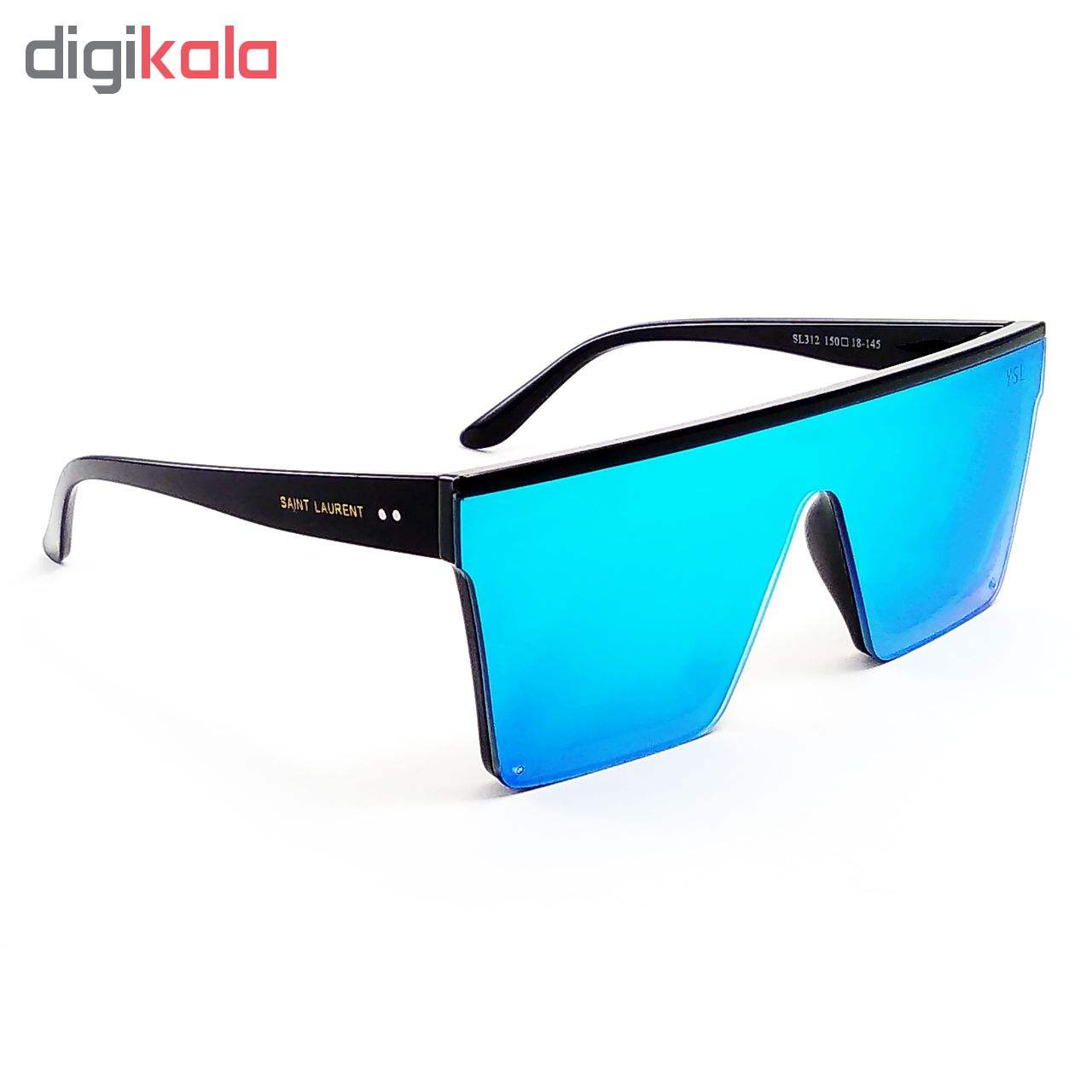 عینک آفتابی شیشه آبی رنگ و فریم مشکی