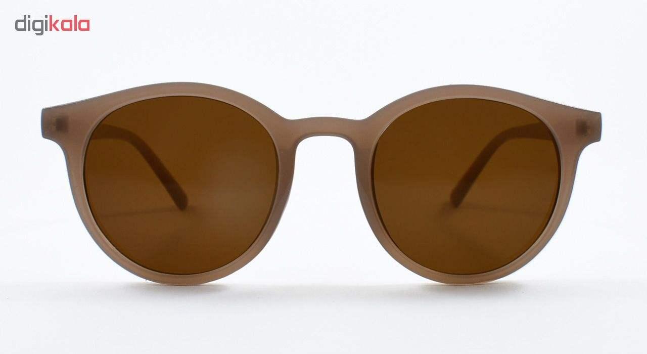 عینک آفتابی زنانه فرم گرد قهوه ای