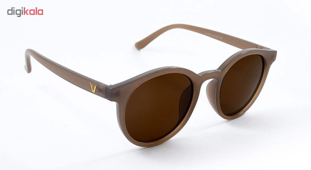 عینک آفتابی زنانه شیشه قهوه ای