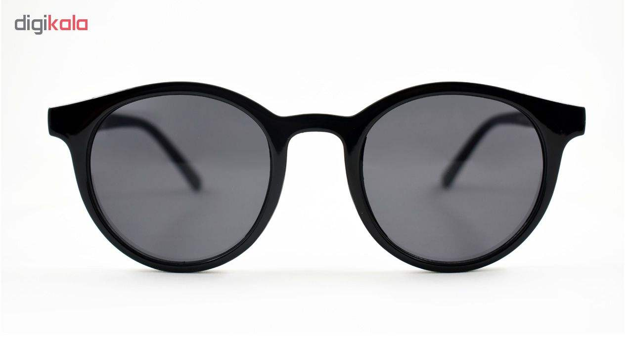 عینک آفتابی زنانه فرم گرد مشکی