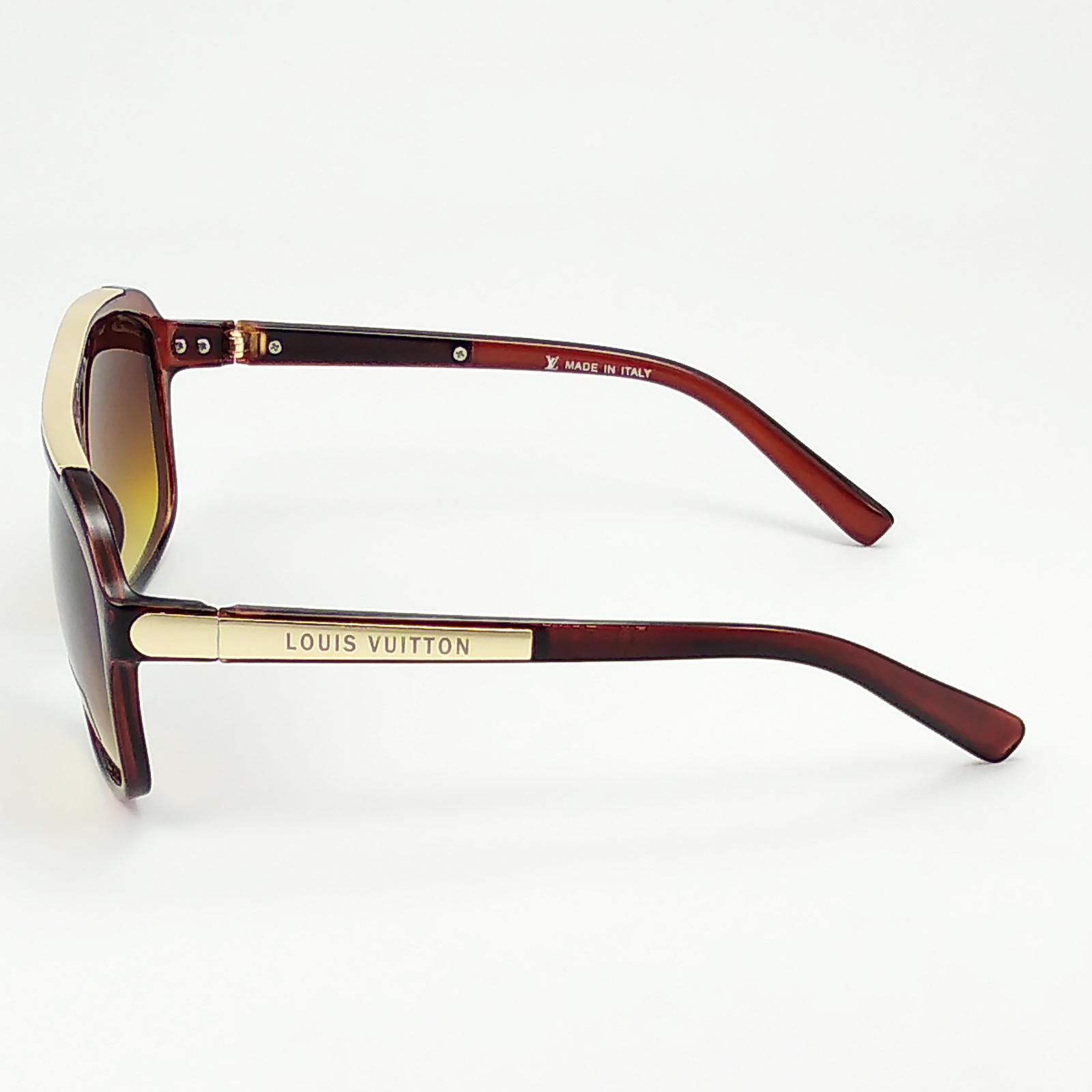 عینک آفتابی فرم چندضلعی قهوه ای