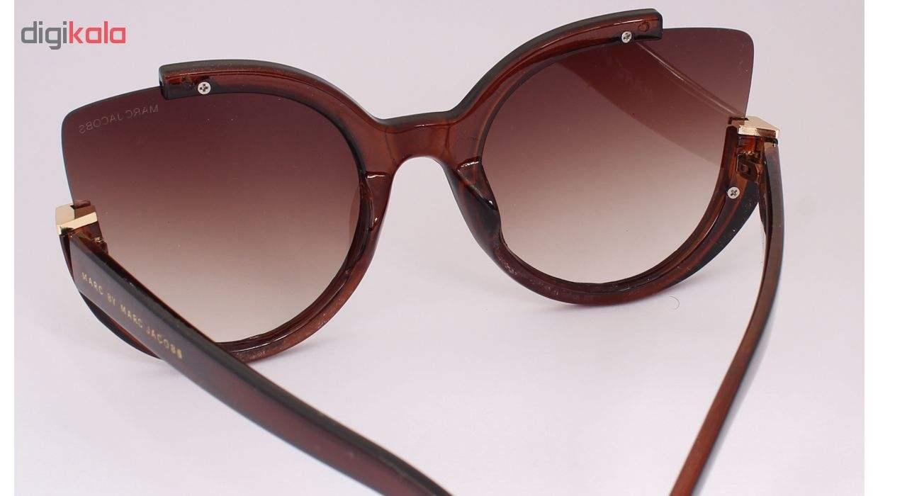 عینک آفتابی زنانه فرم گربه ای به رنگ قهوه ای