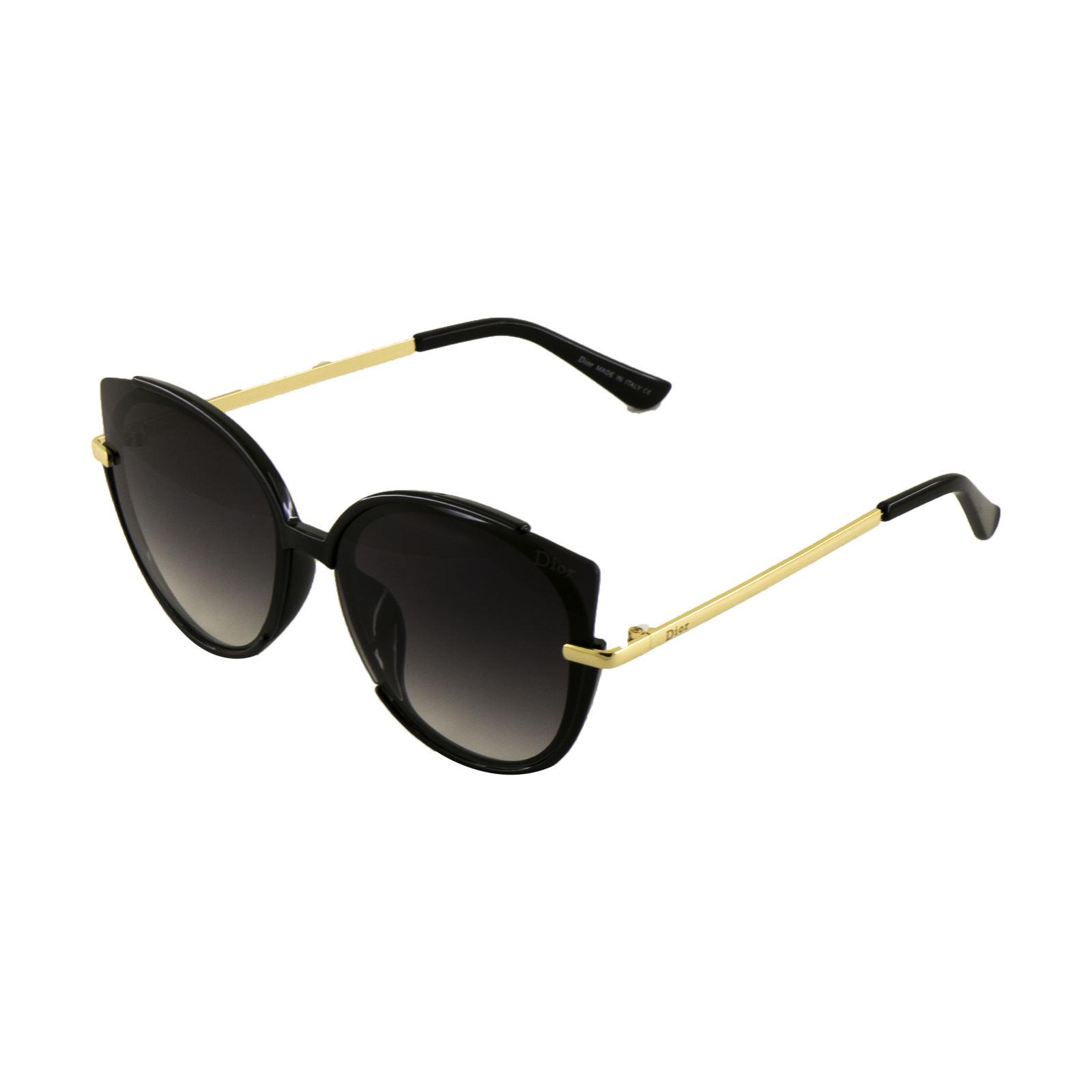عینک آفتابی زنانه فرم طلایی
