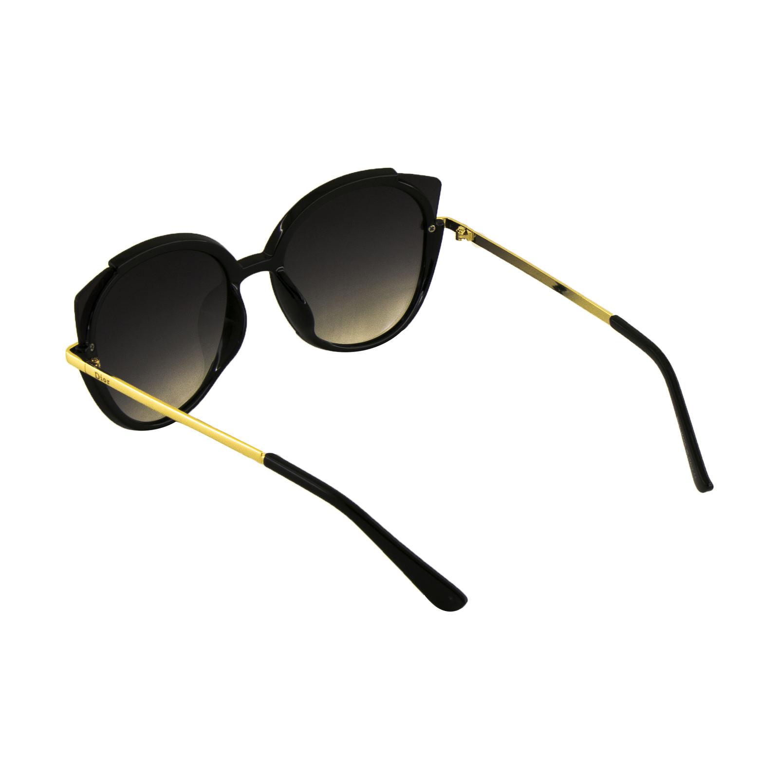عینک آفتابی زنانه فرم گربهای به رنگ طلایی