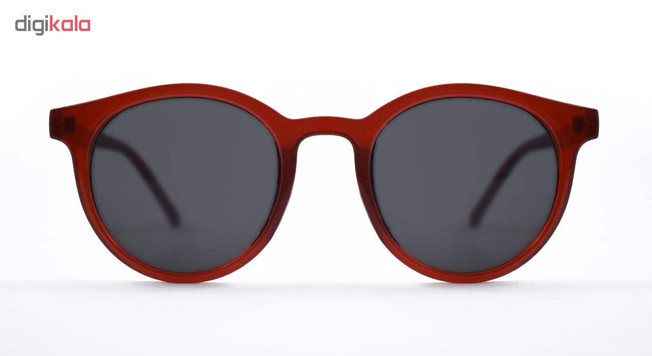 عینک آفتابی زنانه فرم گرد رنگ قرمز