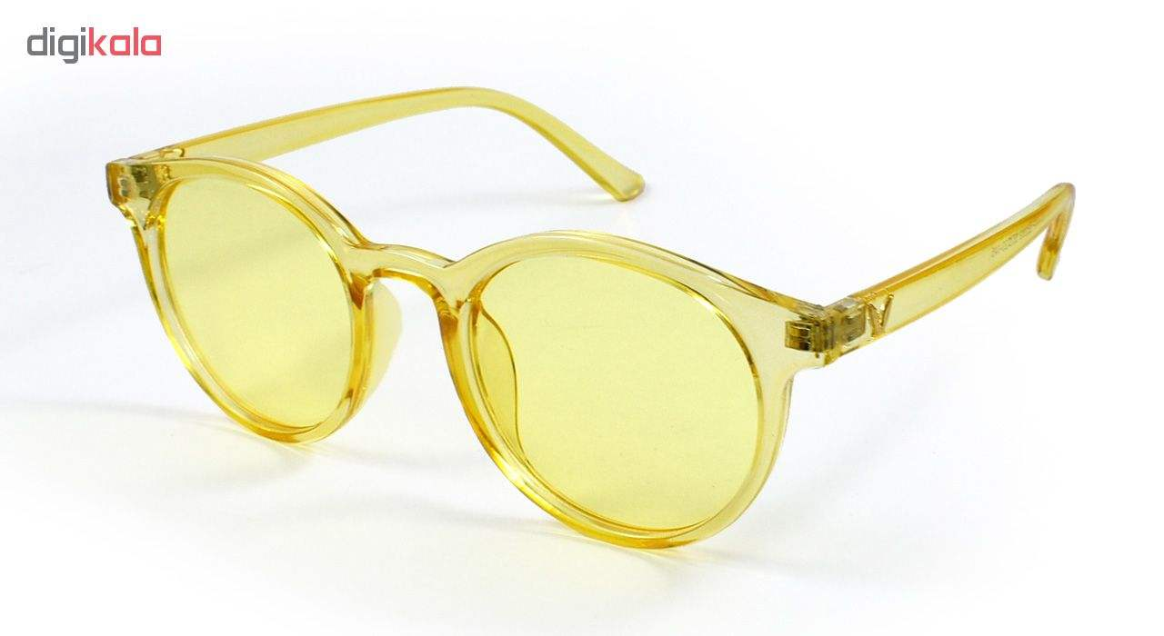 عینک آفتابی زنانه فرم زرد