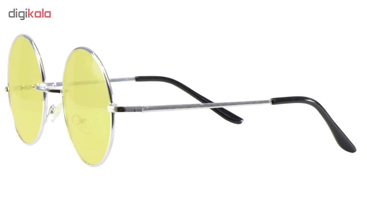 عینک دید در شب زنانه فرم گرد فلزی