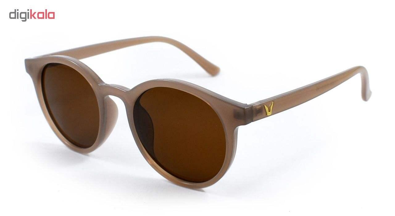 عینک آفتابی زنانه فرم قهوه ای
