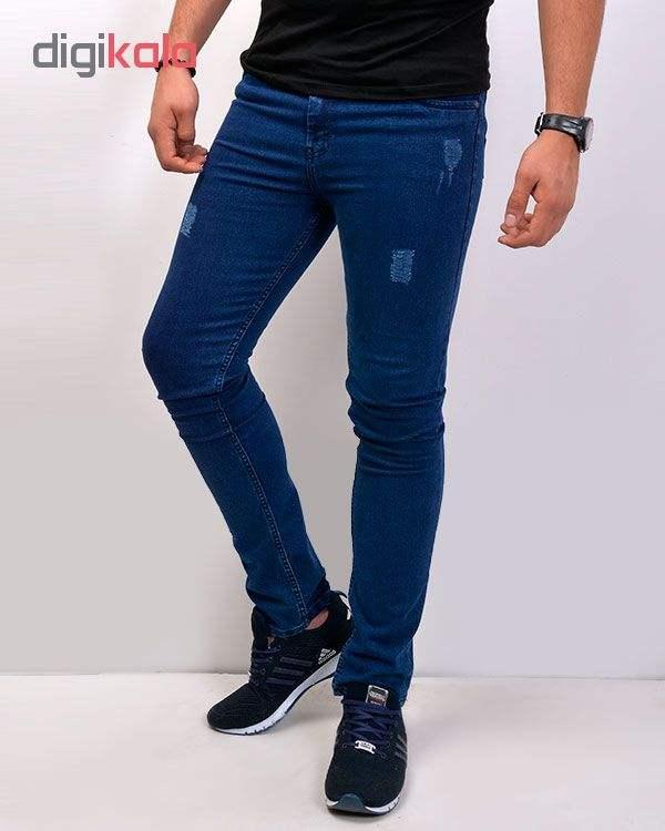 شلوار جین مردانه آبی نفتی
