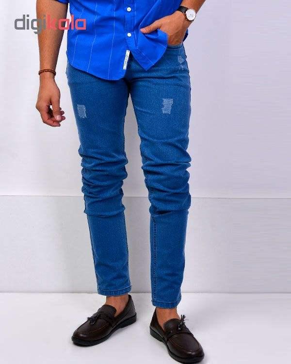 شلوار جین آبی روشن مردانه