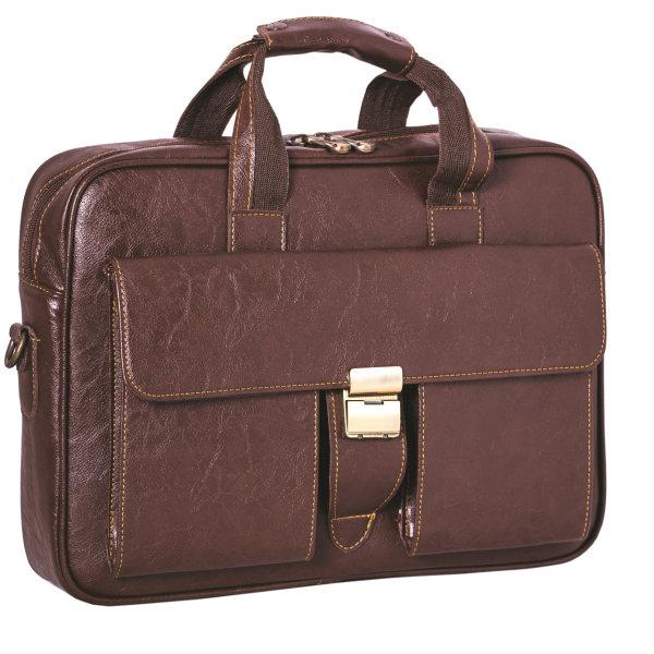کیف اداری قهوه ای چرم