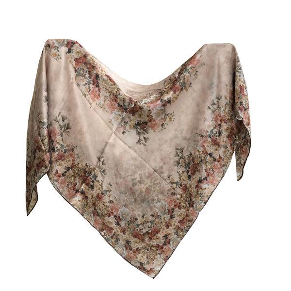 روسری ابرشمی دست دوز