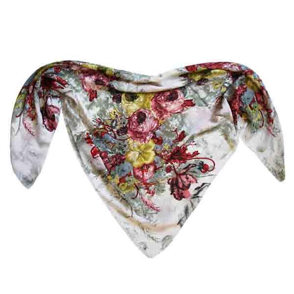 روسری نخی طرح دار مجلسی