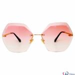 عینک آفتابی شیشه گرد صورتی